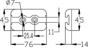 plaquette aero ancrage double2